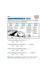 Groundhogs Grow Lesson Plan
