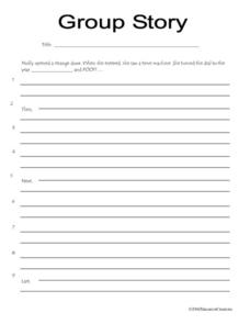 Group Story - Time Travel Worksheet