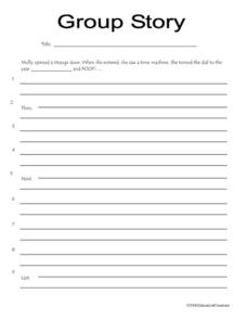 Group Story Worksheet