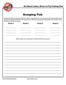 Grouping Fish Worksheet