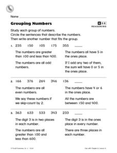 Grouping Numbers Worksheet