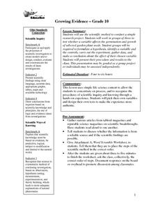 Growing Evidence Lesson Plan