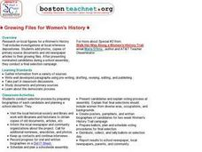 Growing Files for Women's History Lesson Plan