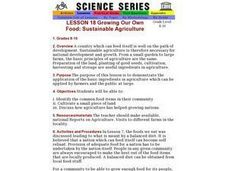 Growing Our Own Food: Sustainable Agriculture Lesson Plan