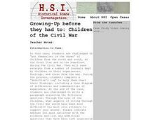 Growing-Up Before They Had to: Children of the Civil War Lesson Plan
