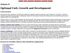 Growth and Development Lesson Plan