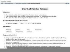 Growth of Florida's Railroads Worksheet