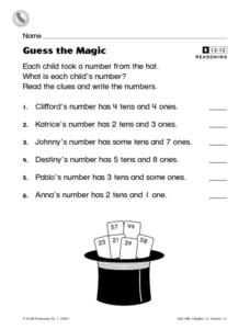 Guess the Magic Worksheet