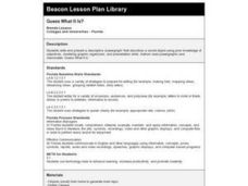 Guess What It Is? Lesson Plan