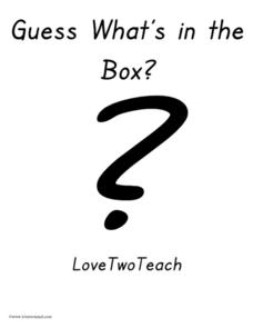 Guess What's in the Box? Love Two Teach Lesson Plan