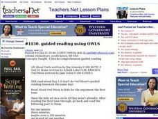 guided reading using OWLS Lesson Plan