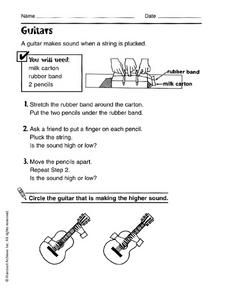 Guitars Worksheet