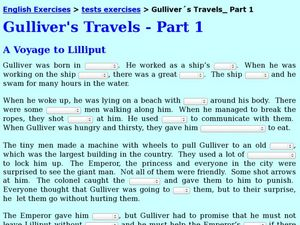 Gulliver´s Travels Part 1 Worksheet