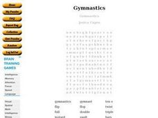 Gymnastics Worksheet