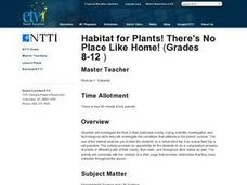 Habitat for Plants! There's No Place Like Home! Lesson Plan