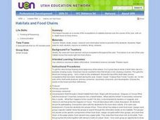 Habitats and Food Chains Lesson Plan