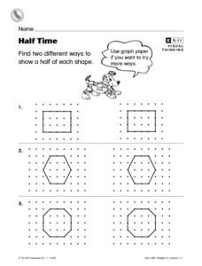Half Time Worksheet