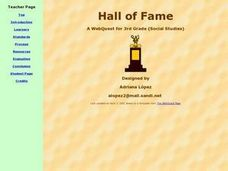 Hall of Fame Lesson Plan