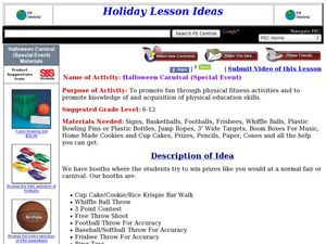Halloween Carnival Lesson Plan