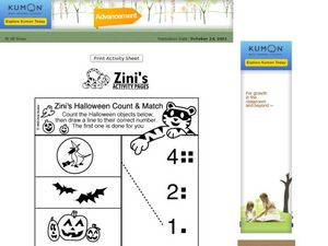 Halloween Count and Match Worksheet