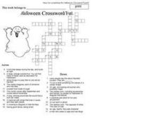 Halloween Crossword Fun Worksheet