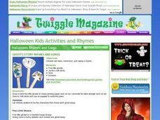 Halloween Rhymes and Songs Lesson Plan
