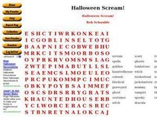Halloween Scream Worksheet