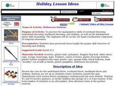 Halloween Stations Lesson Plan