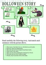 Halloween Story Worksheet