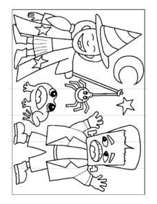 Halloween Witch Coloring Page Worksheet