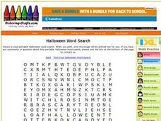 Halloween Word Search Worksheet Worksheet