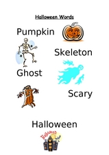 Halloween Words Worksheet