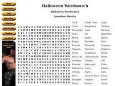Halloween Wordsearch Worksheet