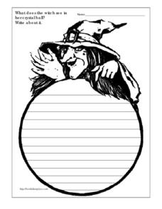 Halloween Writing Prompt Worksheet