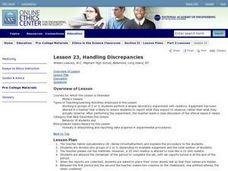 Handling Discrepancies Lesson Plan