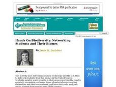 Hands On Biodiversity: Networking Students and Their Biomes Lesson Plan