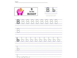 Handwriting: B is for Bunny Worksheet