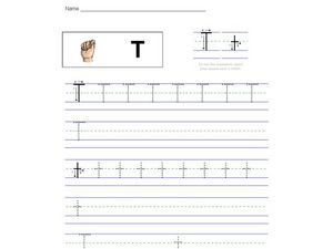 Handwriting Practice: Letter Tt Worksheet