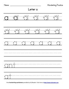 Handwriting Practice Worksheet