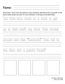 Handwriting Skills Lesson Plan