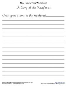 Handwriting Worksheet- A Story of the Rainforest Worksheet