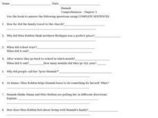 Hannah Comprehension- Chapter 2 Worksheet