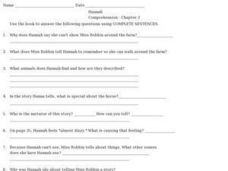 Hannah Comprehension- Chapter 3 Worksheet