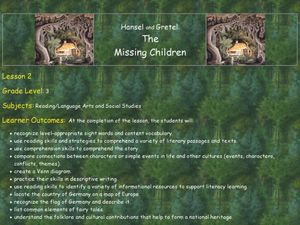 Hansel and Gretel: Discovering Story Elements Lesson Plan