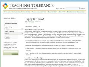 Happy Birthday Lesson Plan