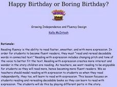 Happy Birthday or Boring Birthday? Lesson Plan