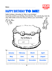 Happy Birthday to Me! Lesson Plan