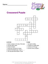 Happy Easter: Crossword Puzzle Worksheet