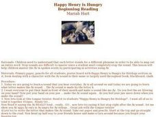 Happy Henry is Hungry Lesson Plan