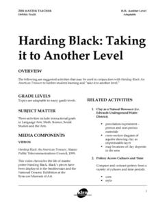 Harding Black: Taking It To Another Level Lesson Plan